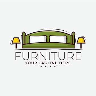 Furniture logo design concept