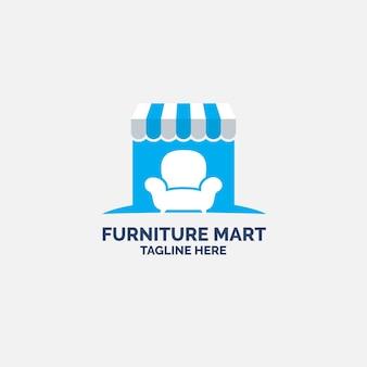 Concetto di design del logo di mobili