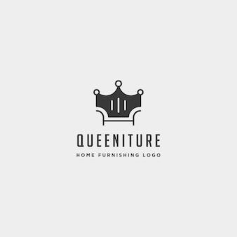 Furniture logo design vector icon illustration icon element isolated