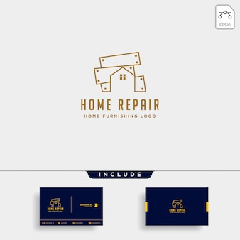 Furniture logo design with gold