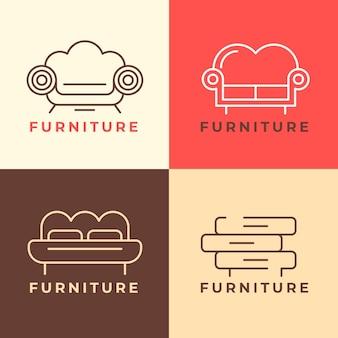 Набор шаблонов логотипа мебели