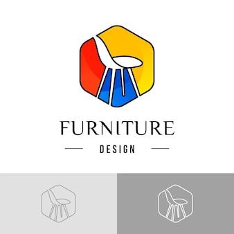家具のロゴのテンプレート