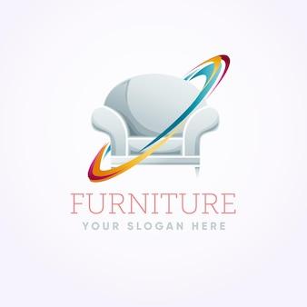 アームチェア付きの家具ロゴ