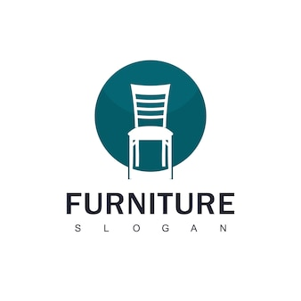 Furniture logo with chair symbol
