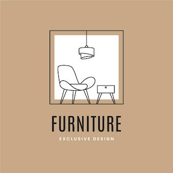 Furniture logo with minimalist elements