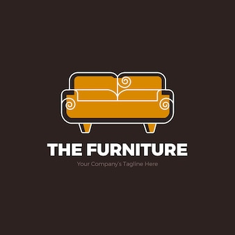Furniture logo with sofa