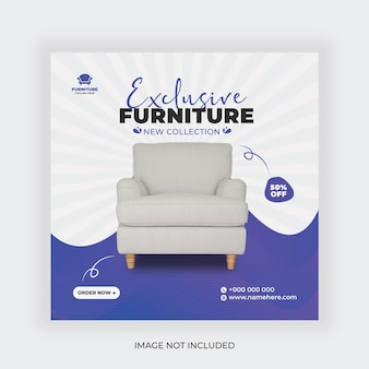 Furniture minimalist social media post and stories