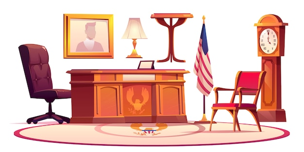 Furniture of oval office in white house