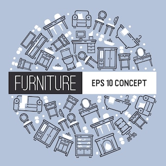 Мебельный дизайн мебели дизайн гостиной фоном меблированного интерьера