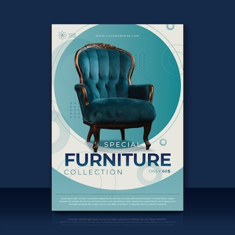Furniture poster template