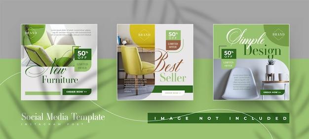Modello di post instagram di vendita di promozione di mobili