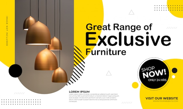 Furniture sale banner template