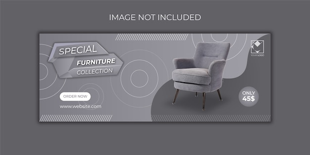 Furniture sale banners template free vector premium