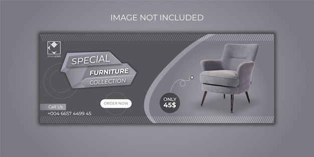 Furniture sale banners template