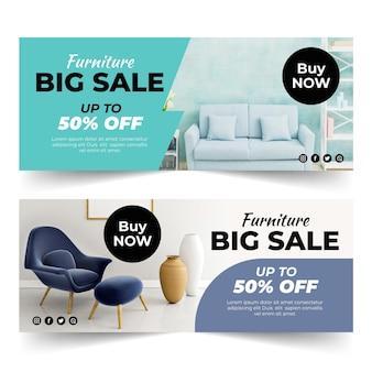 Шаблон баннеров для продажи мебели