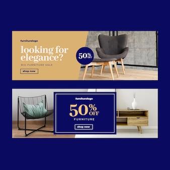 Баннеры продажи мебели с фото