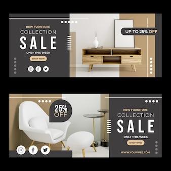 Баннеры продажи мебели