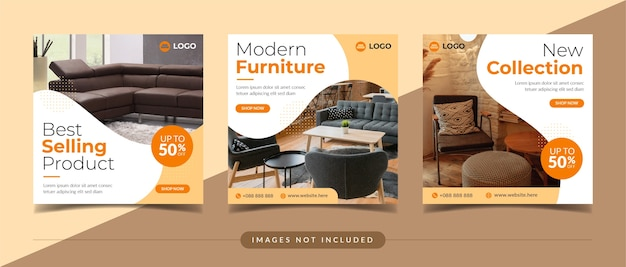 Furniture sale and home decoration social media post template