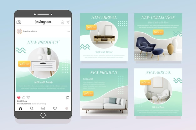 Furniture sale ig post pack with photo