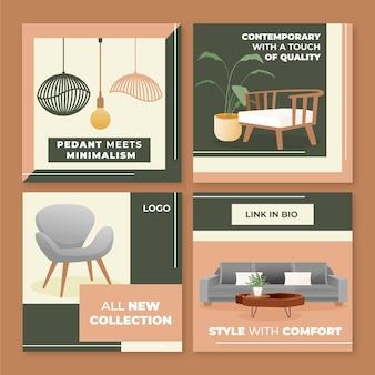 Vendita di mobili ig post set con immagine