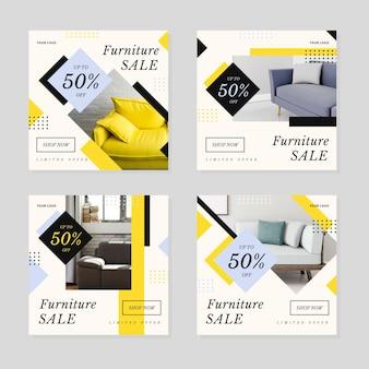 Коллекция сообщений ig о продаже мебели с изображением
