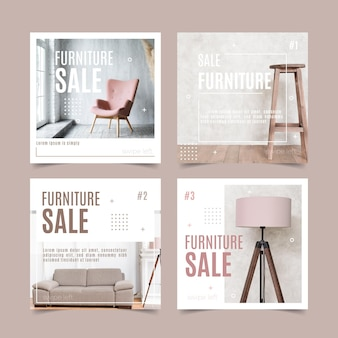 Furniture sale ig posts collection with picture