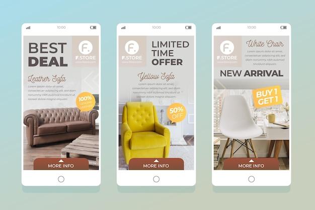 Продажа мебели ig stories pack