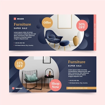 Furniture sale instagram post pack with photo