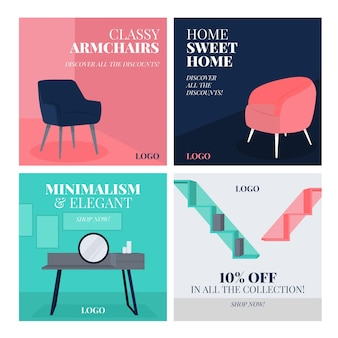 Продажа мебели instagram пост набор с фото