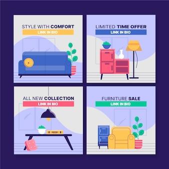 Набор постов для продажи мебели в instagram