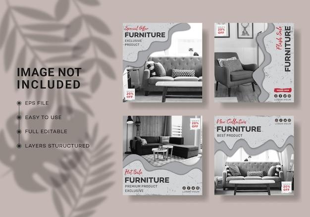 家具販売instagram投稿テンプレート