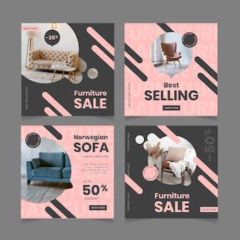 Пост в instagram о продаже мебели