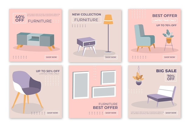 Furniture sale instagram posts with image