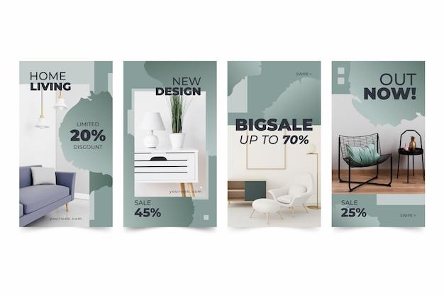 Furniture sale instagram stories set