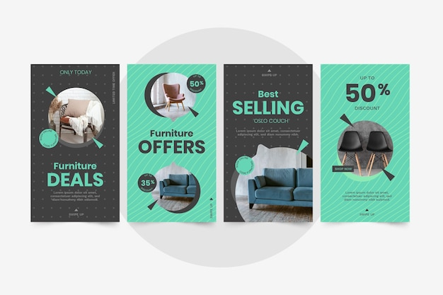 Storia di instagram di vendita di mobili