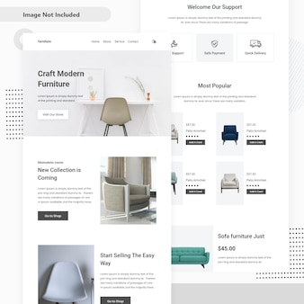 Furniture sale landing page design