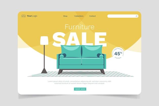 Furniture sale landing page