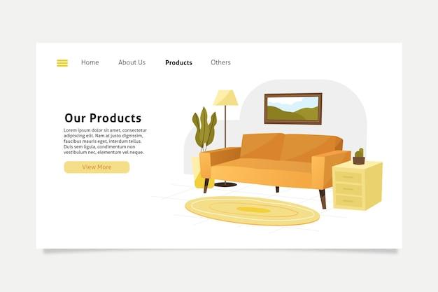 Pagina di destinazione della vendita di mobili
