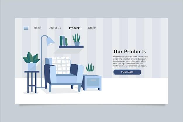 Furniture sale landing page