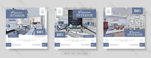 Furniture sale for social media banner or instagram post