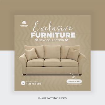 Furniture sale social media banner post template