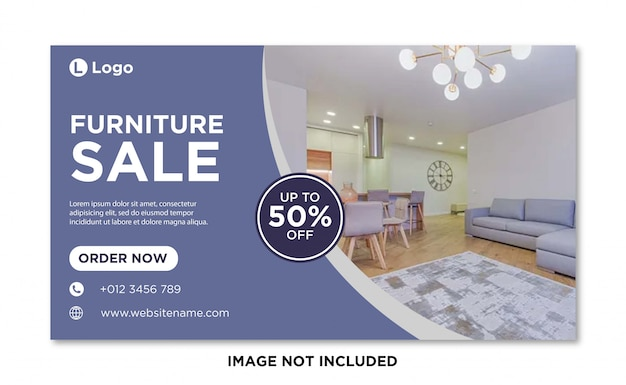 Furniture sale social media cover banner template