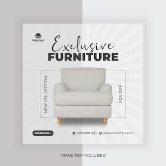 Furniture sale social media post banner design