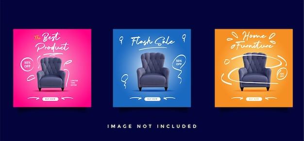 Коллекция сообщений о продаже мебели в социальных сетях