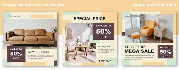 Furniture sale social media post