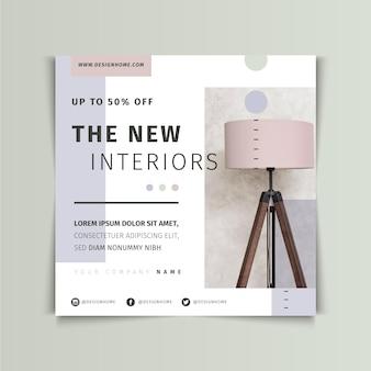 Furniture sale square flyer
