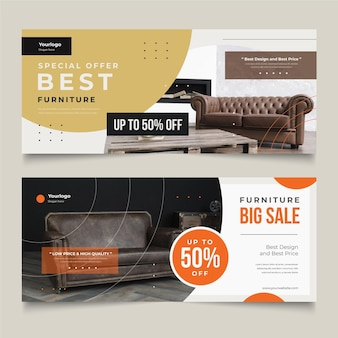 Furniture sales banners collection