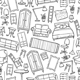 Furniture seamless pattern