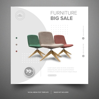 Furniture set social media banner