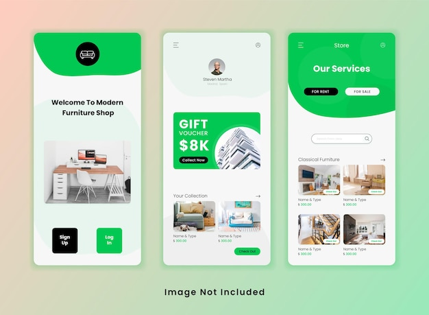 Furniture shop ui app template